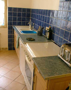Kitchen of self-catering rental in Languedoc Roussillon